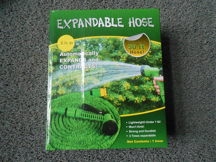brass fitting expandable garden hose as seen on TV
