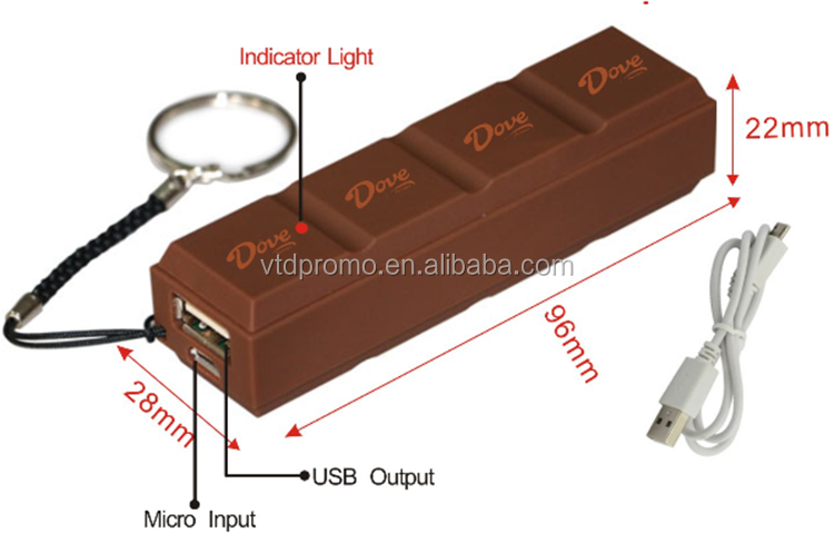 exquisite chocolate power bank for mobile phone and digital products