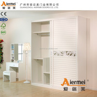 Cheap modern wooden bedroom laminated plywood wardrobe