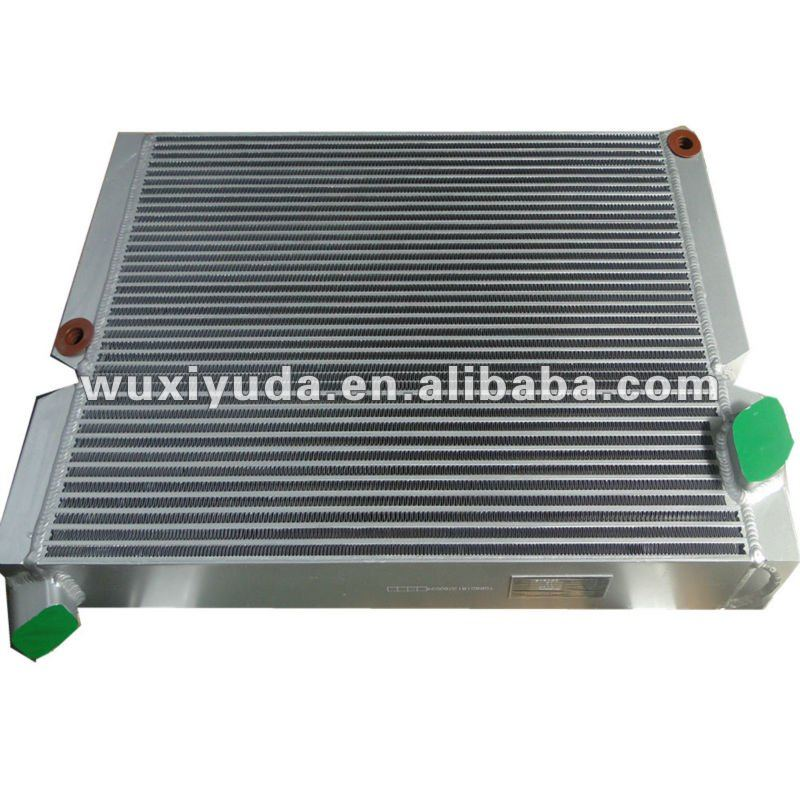 aluminium oil cooler for hydraulic oil cooling system ,for industrial chiller