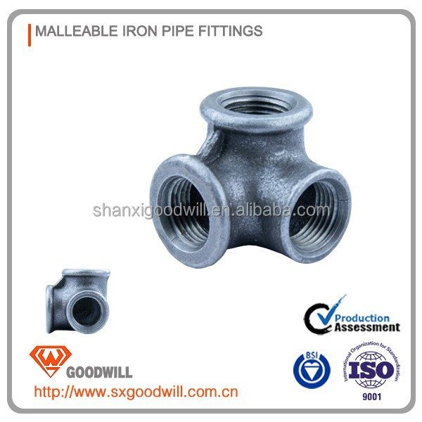 galvanized/black malleable iron pipe fitting side outlet elbow