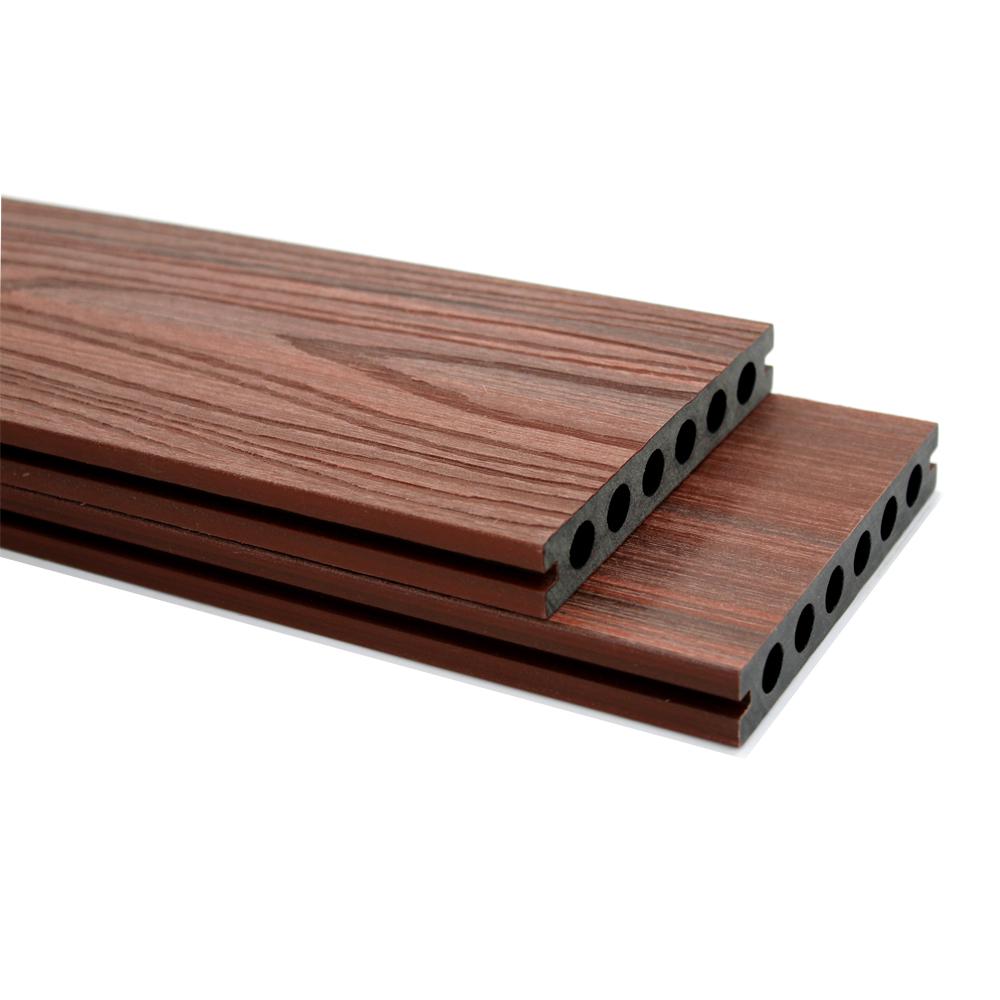 Natural Wood Grain Multi Colored Wpc Laminate Flooring On