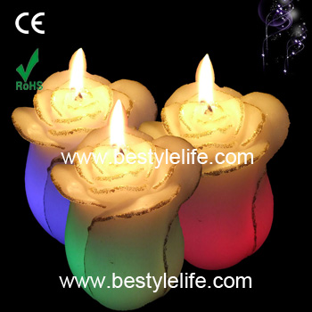 tulip shaped color changing flower led candle lighting