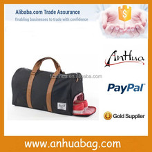 Good quality new black travel bag with shoe compartment