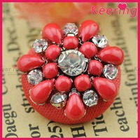 Hot wholesale snap button jewelry sew cover button WBKA-094