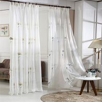 embroidery decoration window curtain for living room, embroidery fabric, ready made door curtain