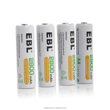 Hot Sale EBL 1.2V 2800mAH Ni-Mh AA Rechargeable Battery for Electronices