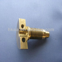 brass worm gear shaft with split integral hub