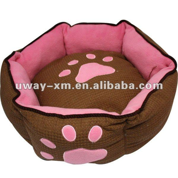 Stylish functional cotton dog bed and cushion