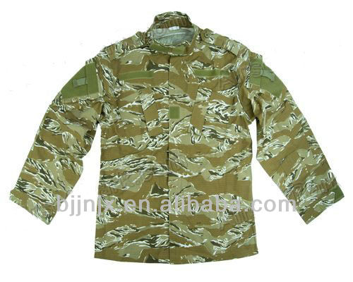 US Desert Tiger Stripe Camo Combat uniform/camouflage clothing/military uniform made in china manufacture
