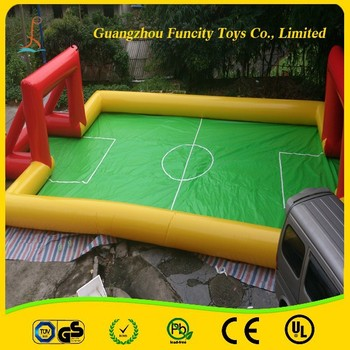 hot sale inflatable bubble soccer field /inflatable soccer soap football field