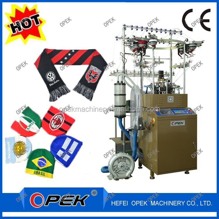 High speed jacquard small diameter circular knitting loom for hat and scarf