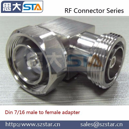 RF coaxial connector L29 7/16 DIN male to female adapter