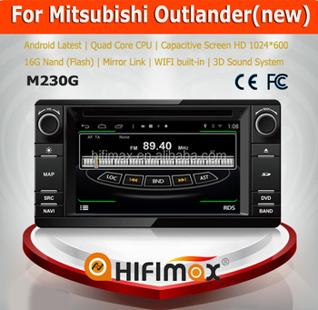Hifimax Android 4.4.4 car pc for New Mitsubishi Outlander with map mirror link bletooth wifi functions