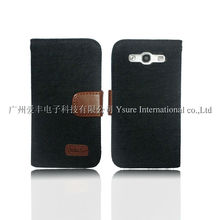 Black Denim Leather Case for Samsung Galaxy s3 i9300