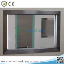 with stainless steel protection x ray lead glass windows