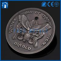 custom person head name logo decorative coins