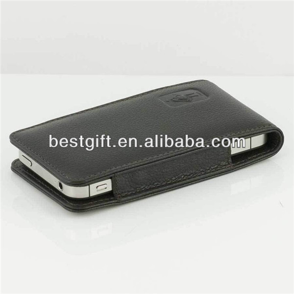 Black genuine leather case for haipai