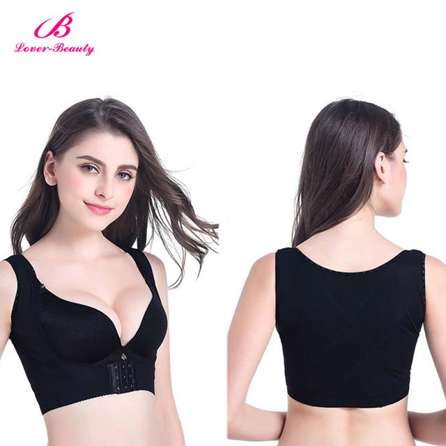 Fashion Black Push Up Hook Eye Front Breast Body Shaper Bra