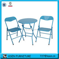 coffee shop metal folding tables and chairs KC-TC86