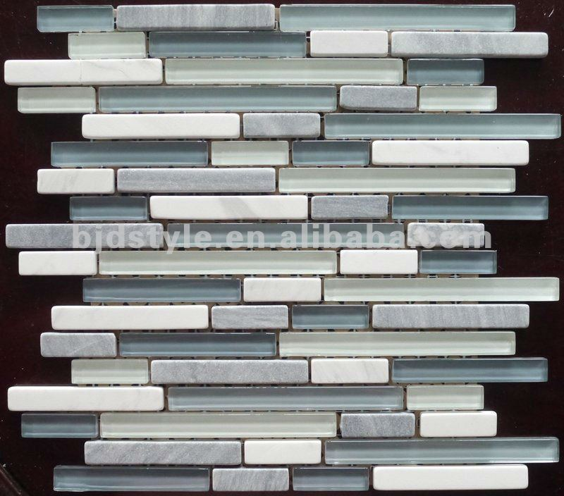 slate and glass mosaic mix tile(sg23)