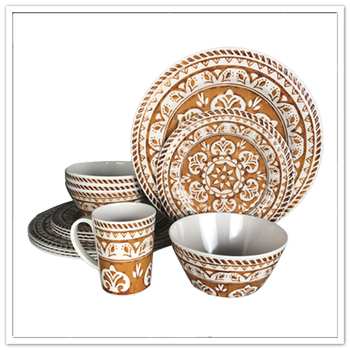 China like round shape 100% melamine tableware set
