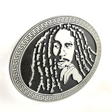 Music Series Jamaican Pop Music Reggae Singer Bob Marley portrait metal belt buckle
