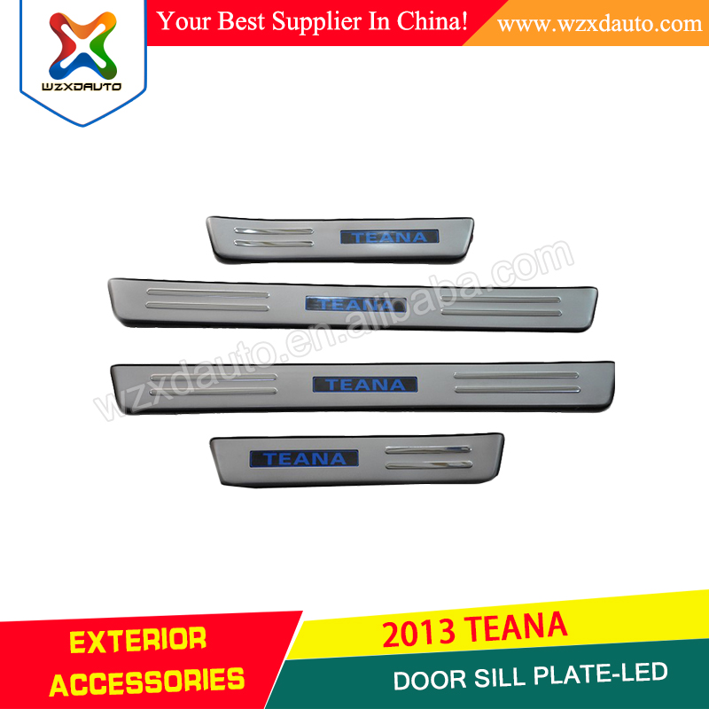 LED 4 DOOR SILL SCUFF PLATE DOOR SILL PLATE COVABS LED DOOR SILL PALTE-LED FOR TEANA ALTIMA 2013