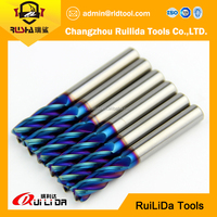 TiAIN Coated / Round Dowel End Mill / Ball Nose / Long Handle