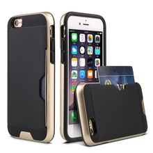 2017 High Quality Shockproof Card Slot 2 In 1 Combo Case For iphone 6