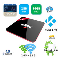 S912 Android 6.0 marshmallow tv box kodi 17.0 h96 pro android tv box