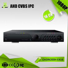 AHD dvr 1080p 16 channel AHD-H free client software h.264 xmeye cloud technology cctv dvr h 264