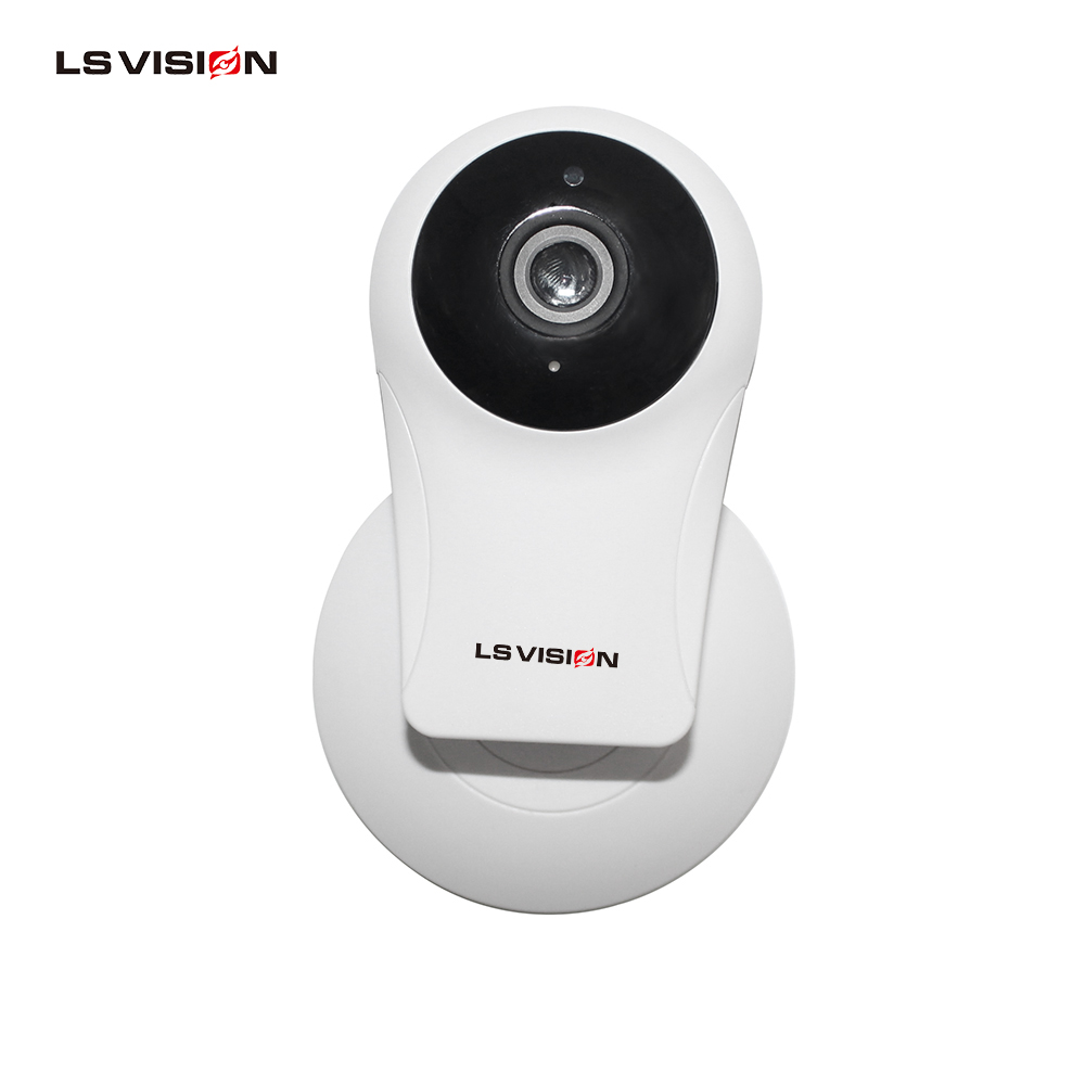 LS VISION 720P Security Indoor Wifi Mini P2P IP Camera 10m Infrared Distance 115 Degree Wide Angle