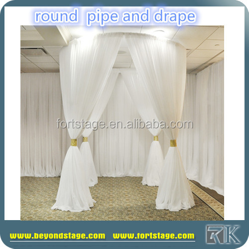 cheap pipe drape fiber wedding mandap decoration