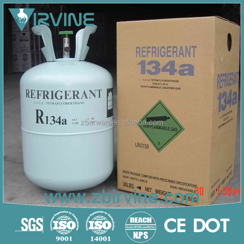 natural gas R134a in neutral package