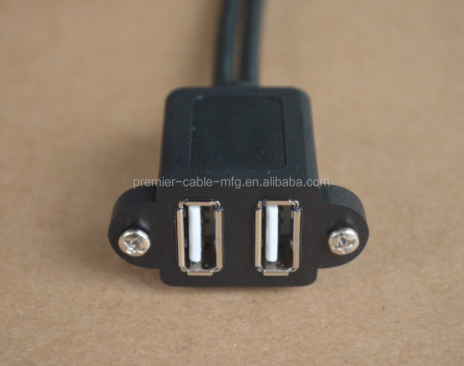 Dual USB 2.0 Female to Motherboard 9p 9 pin header Adapter cable