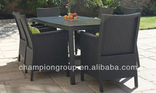 Spray stone garden table with big table for 6 people for wholesales