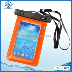 PVC waterproof cell phone bag for diving and swimming