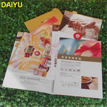 custom A3 A4 A5 folded catalogue leaflet brochure flyer printing