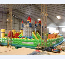 Commercial Quality Large Inflatable Fun City Bouncy Castle With slide climbing