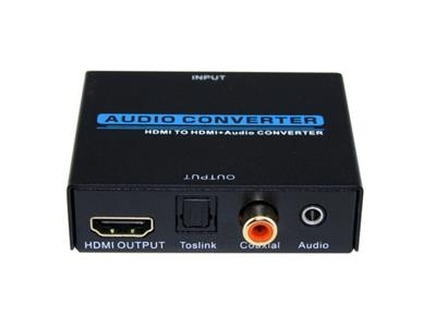 Hot Selling HDMI to 5.1 Analog Converter HDMI TO HDMI+Audio(SPDIF+Coaxial+3.5mm)Converter