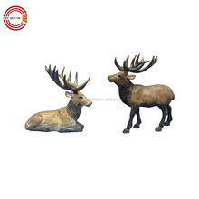 Wood craft Christmas holiday decoration wooden reindeer for home decoration