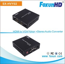SX-HVY02 HDMI to VGA or Ypbpr Converter Support 1080p and with Audio VGA Converter Adapter