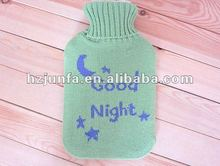 fashion 2012 pretty acrylic jacquard cute knitted kids hot water bottle bag