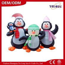 HOT Inflatable Penguin Family gold star christmas decoration