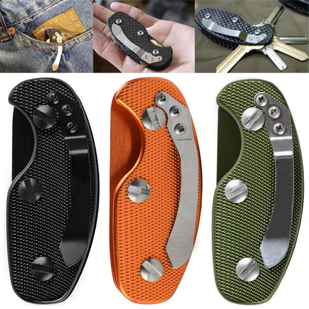 Keychain Multifuction Tool Hot Key Organizer Folding Keys Clamp EDC Holder Pocket Aluminum Key Bar EDC Outdoor Survival Gear