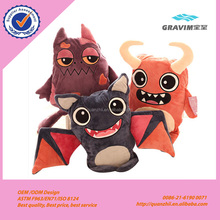 Hot selling stuffed owl monster cat and bat plush toy for Halloween toys