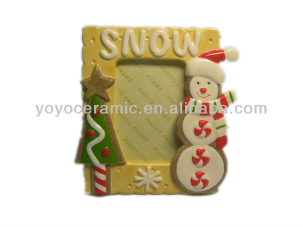 christmas snowman ceramic frames for pictures