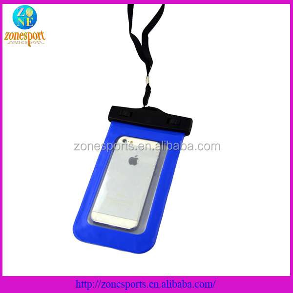 High quality PVC phone waterproof case for iphone 5 for samsung S5 case