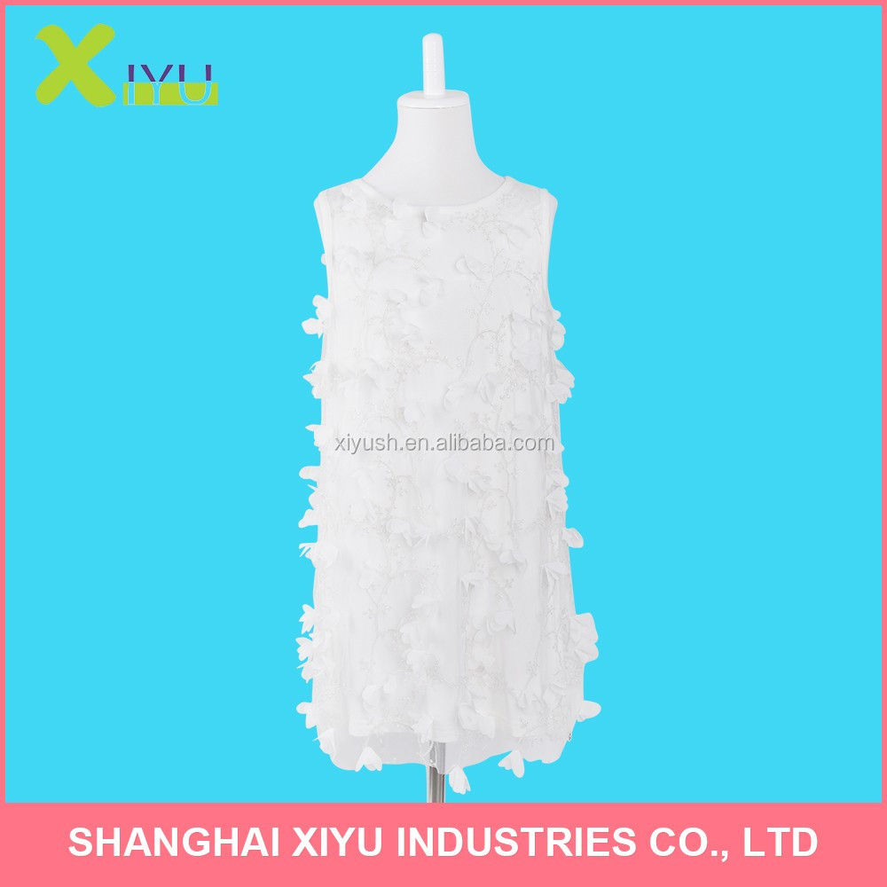 China manufacture fashionable kids frock designs flower girl dress